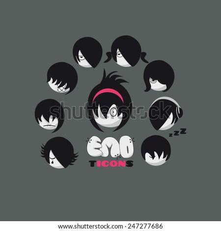 emo emoticons