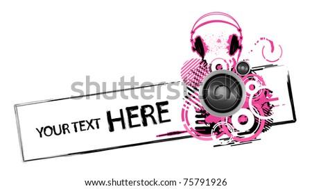 emo grunge headphones design