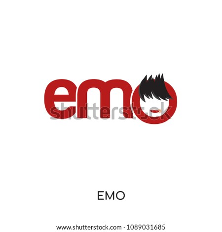 emo logo isolated on white