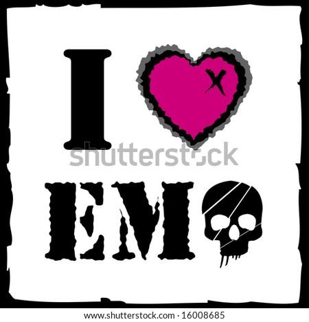 stock vector : Emo love