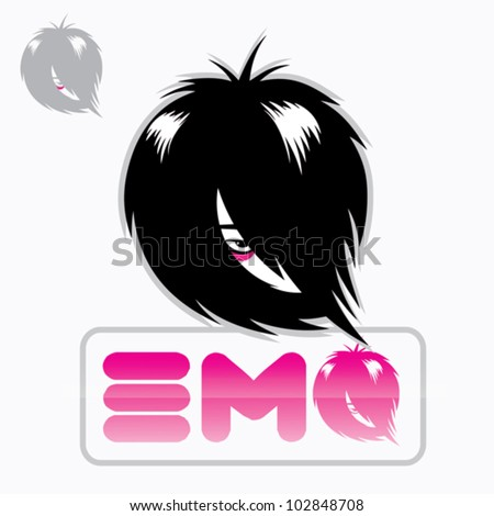 emo sign   vector illustration
