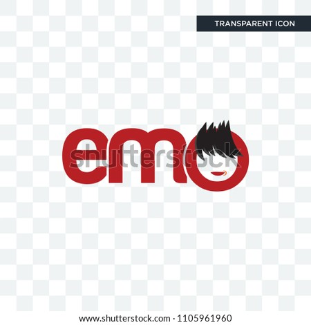 emo vector icon isolated on
