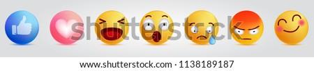 Emoji Emoticon. Trend Design Style, social media icon