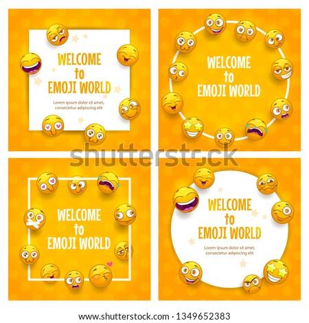 emoji frames funny square