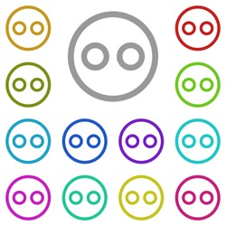 emoji icon in multi color. Simple glyph vector of web set for UI and UX, website or mobile application