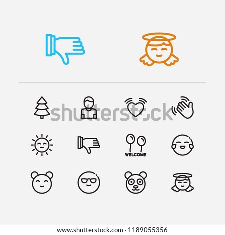 emoji icons set of emoji sun