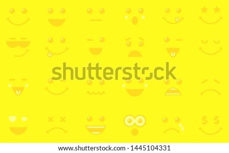 emoji icons yellow background