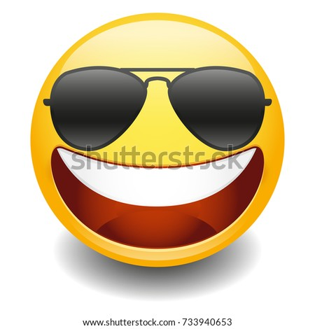 emoji laugh happy sunglasses