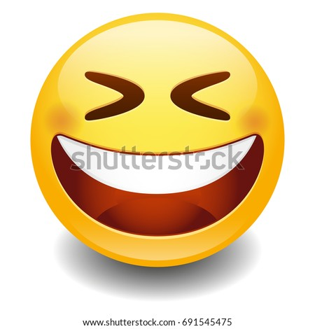 emoji laugh smiley face vector