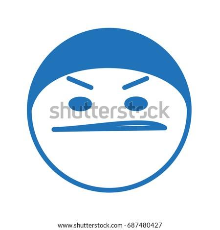 emoji of thug or ninja in