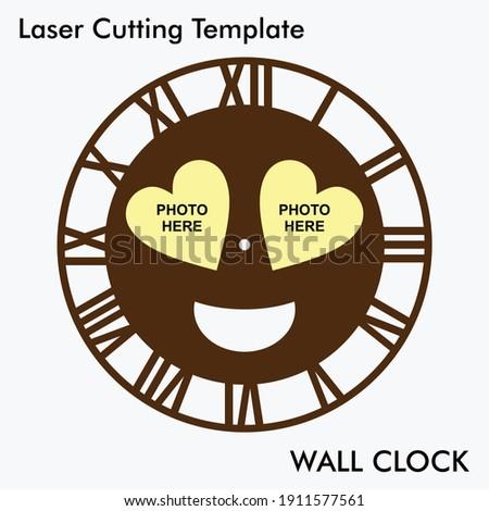 emoji photo wall clock laser