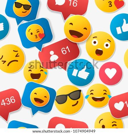 emoji seamless pattern on a