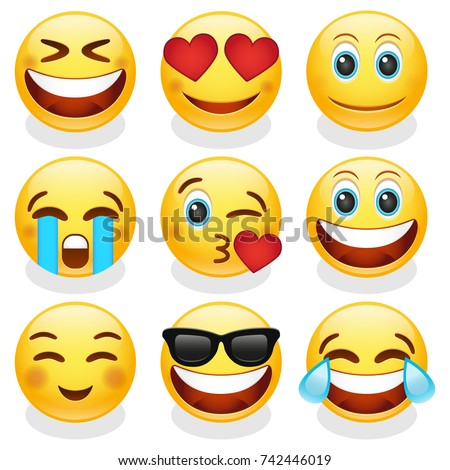 emoji smiley face vector design