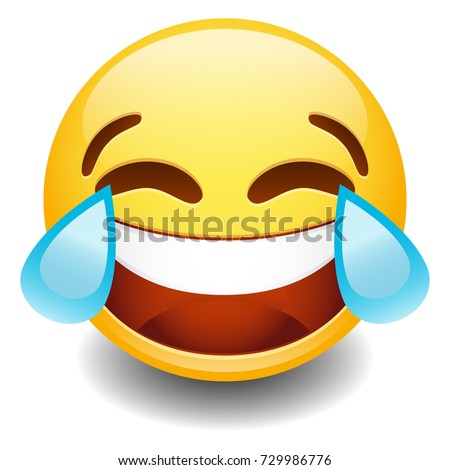 Emoji Tear Laugh Smiley Face Vector Design Art