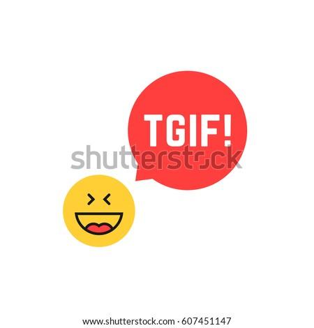 emoji tgif logo like thank god
