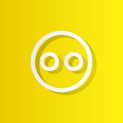 emoji white icon with shadow