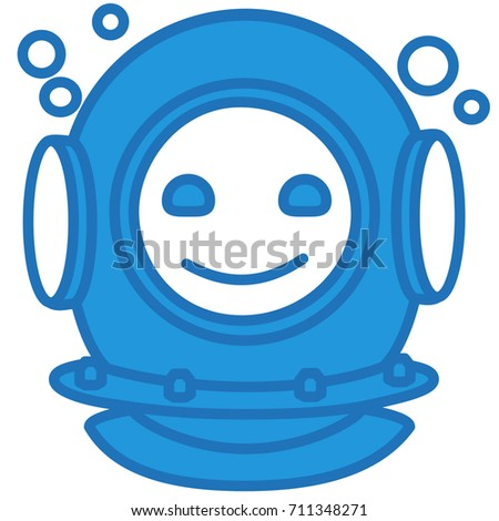 emoji with happy smiling deep