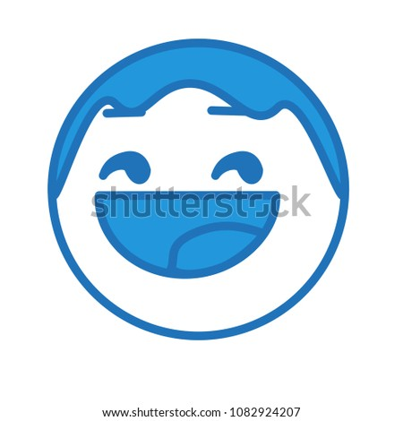 emoji with satisfied character