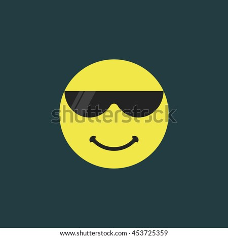 emoji with sunglasses smiling