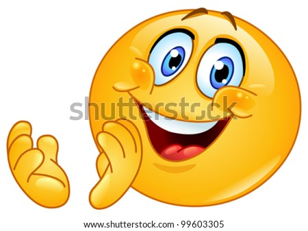 stock vector : Emoticon clapping