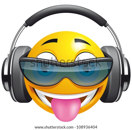 emoticon dj  eps 10 includes