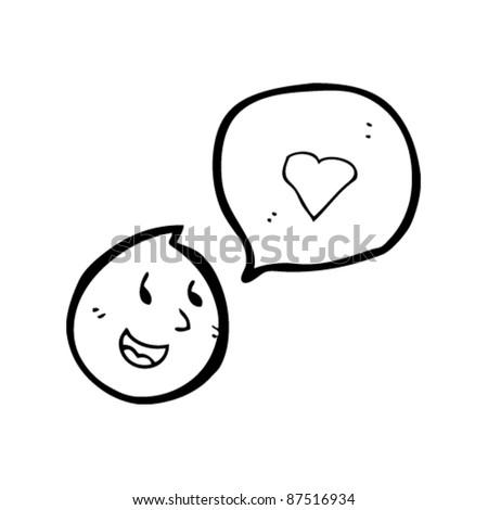 emoticon face in love cartoon