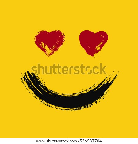 emoticon in love smiling emoji
