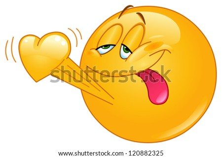 ShutterStock Emoticon in love with heart beating 120882325