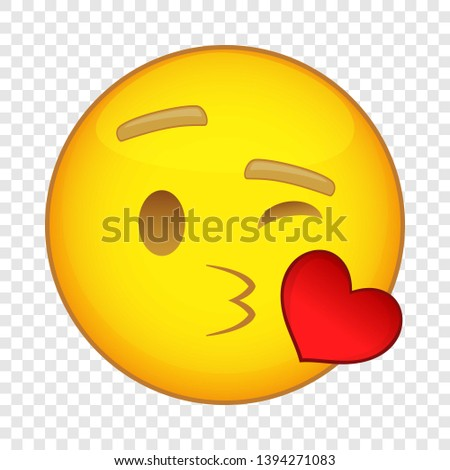 emoticon in love with heart