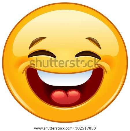 emoticon laughing with closed