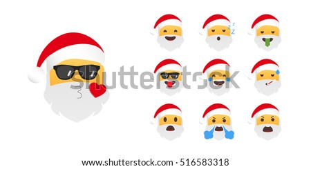 emoticon santa claus emoji for
