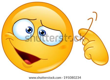 emoticon showing a screw loose