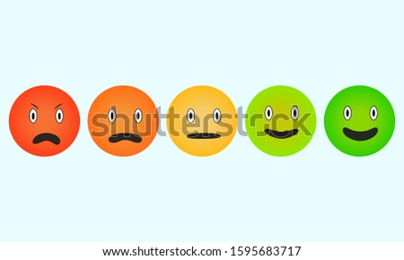 emoticon smile scale flat