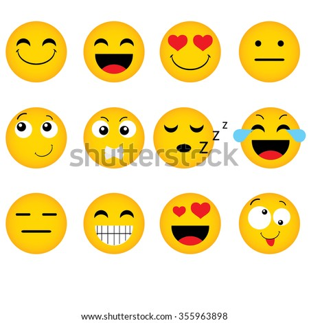 emoticon vector style smile