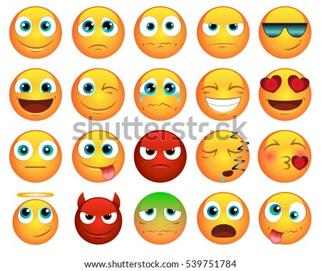 emoticons or smileys icons set