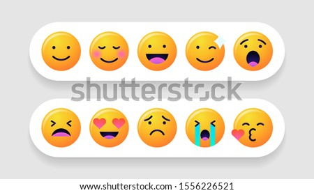 emoticons set emoji faces