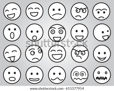 emotion faces in black and white