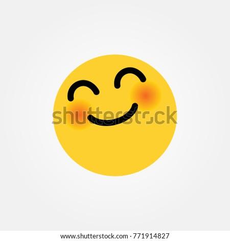 Emotion yay simple flat style vector illustration.