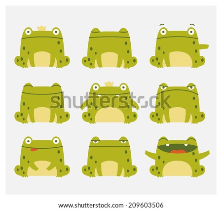 emotional cute frogs cartoon