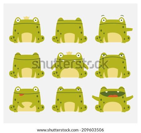 emotional cute frogs cartoon