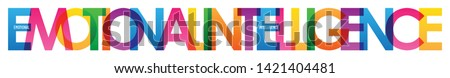 EMOTIONAL INTELLIGENCE colorful typography banner Photo stock ©