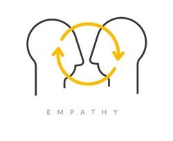 Empathy - Emotional Intelligence - Icon as EPS 10 File