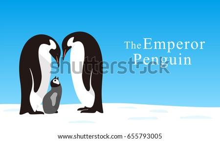 emperor penguin family love