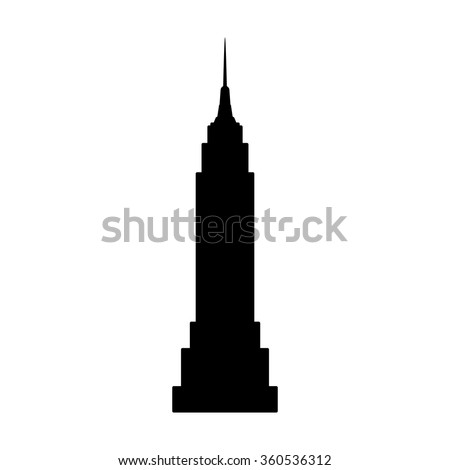 Empire State Building in New York City flat icon for apps and websites