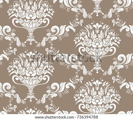 empire vector pattern vase flower