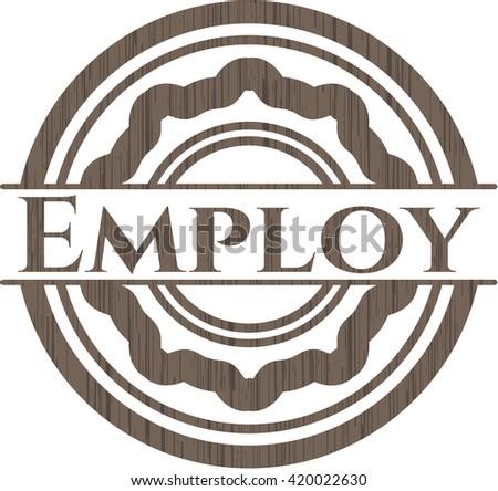 Employ wood emblem. Vintage.