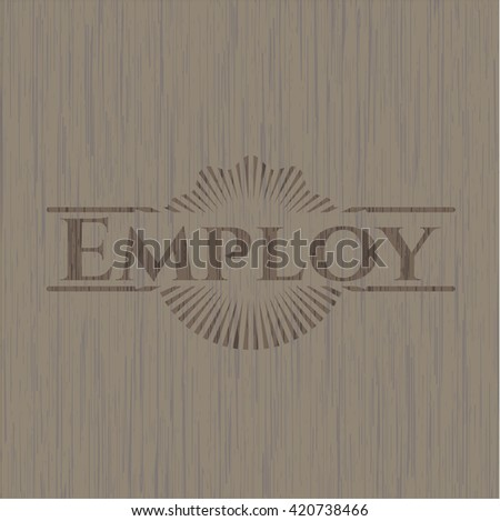Employ wooden emblem
