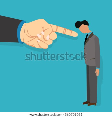 employee blame by boss get fired finger pointing blaming vector illustration cartoon Сток-фото ©