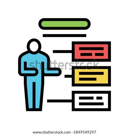 employee different characteristics color icon vector. employee different characteristics sign. isolated symbol illustration Foto stock ©