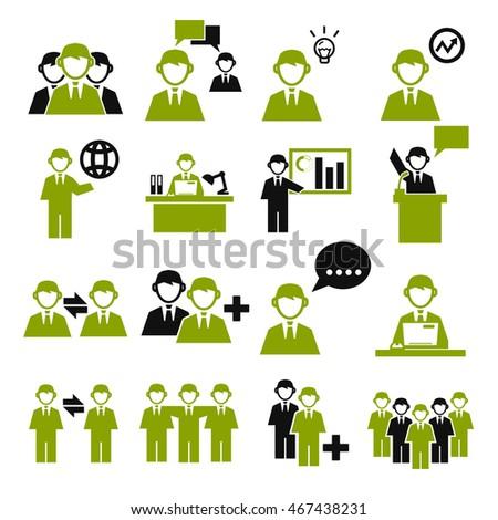 employee, employees icon set #467438231